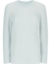 Chloé Open Knit Sweater - Lyst