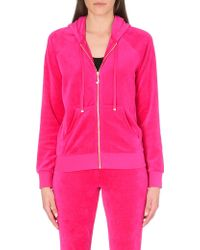 Juicy Couture Bling Velour Hoody - For Women - Lyst