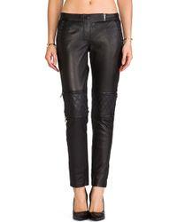 Maison Scotch Leather Moto Pants - Lyst