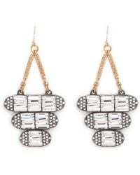 Lulu Frost 'Elizabeth' Crystal Tier Drop Earrings - Lyst