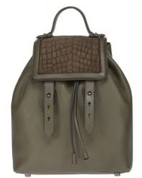 Mackage - Tanner-F4 Olive Leather Backpack - Lyst
