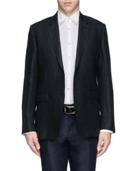 Paul Smith Notch Lapel Linen Blazer - Lyst