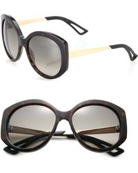 Dior Extase 58Mm Round Sunglasses brown - Lyst
