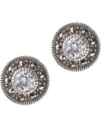 Judith Jack - Crystal Marcasite Stud Earrings - Lyst