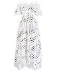 Zimmermann | white Empire Papier Dress | Lyst