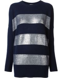 Vanessa Bruno Foil Striped Sweater - Lyst