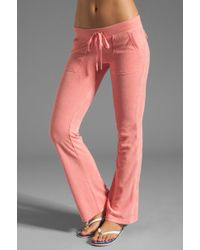 Juicy Couture Terry Snap Pocket Pant - Lyst