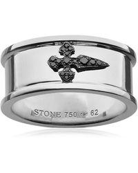 Stone Paris - Cross Diamond Ring - Lyst