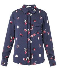 Piamita | Isabella Apple-Print Silk Shirt | Lyst