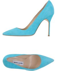 Manolo Blahnik Court blue - Lyst