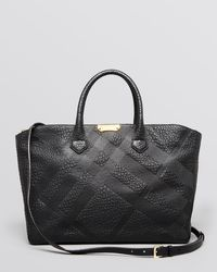 Burberry Tote Embossed Heritage Grain Medium Dewsbury - Lyst