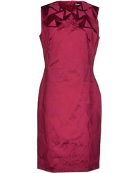 Versace Knee-Length Dress purple - Lyst