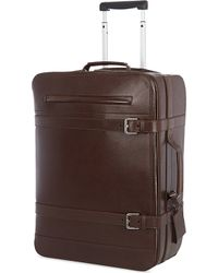 Brunello Cucinelli Leather Two-Wheeled Trolley Case - Lyst