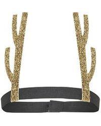 TOPSHOP - Glitter Antler Headband - Lyst