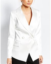 Closet - Sateen Suit Jacket With Button Detail - Lyst