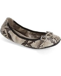 Me Too 'Lore' Nappa Leather Ballet Flat - Lyst