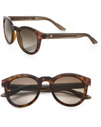 Gucci Vintageinspired Round Acetate Sunglasses - Lyst