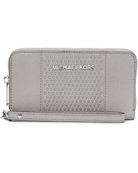 Michael by Michael Kors Leather Microstud Large Coin Phone Case - Lyst