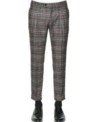 Gabriele Pasini - 18cm Plaid Wool Blend Pants - Lyst