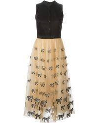 Alice + Olivia 'Preena' Shirt Combo Dress - Lyst