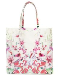 Ted Baker 'Mirrored Tropics Icon' Tote - Lyst