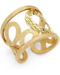Roberto Coin Chic  Shine 18k Yellow Gold Cuff Ring - Lyst