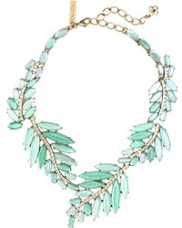 Oscar de la Renta Marquise Stone Resin Leaf Necklace - Lyst