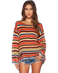 Wildfox Mexi Blanket Lennon Sweater - Lyst