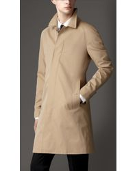Burberry Cotton Gabardine Car Coat - Lyst
