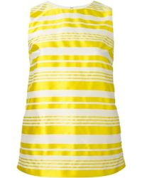 RED Valentino Striped Sleeveless Blouse - Lyst