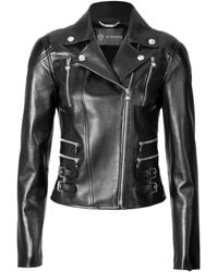 Versace Leather Biker Jacket - Lyst
