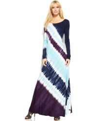 Inc International Concepts Long-sleeve Tie-dye Maxi Dress - Lyst