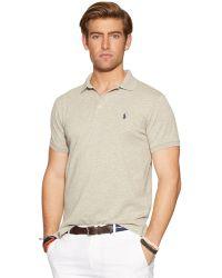 Polo Ralph Lauren Custom-Fit Stretch-Mesh Polo - Lyst