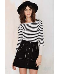 Nasty Gal | That's Entertainment Striped Ribbed Top | Lyst