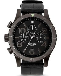 Nixon The 48-20 Chrono Alligator-Embossed Leather Strap Watch, 48Mm - Lyst