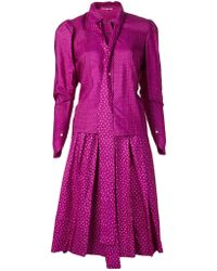 Yves Saint Laurent Vintage Heart Print Skirt Suit - Lyst