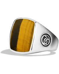 David Yurman Exotic Stone Ring with Tigers Eye - Lyst
