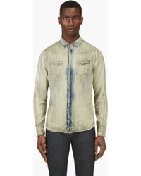 Diesel Green Smudged and Bleached Sofier_rc Shirt - Lyst