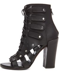 Proenza Schouler Lace Up Open Toe Leather Booties - Lyst