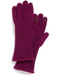 Halogen - 'touch Tech' Cashmere Gloves - Purple - Lyst