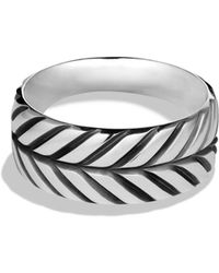 David Yurman Modern Chevron Band Ring - Lyst