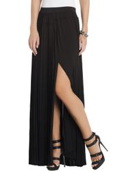BCBGMAXAZRIA Dillon Pleated Paneled Maxi Skirt - Lyst