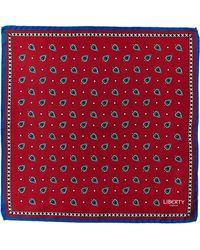 Liberty - Red Thrington Print Silk Pocket Square - Lyst