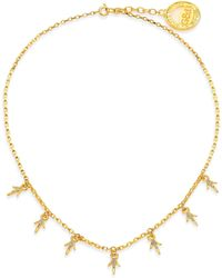 Giles & Brother | Thorn Crystal Charm Necklace | Lyst