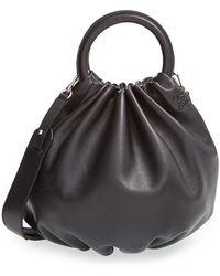 Loewe Women'S 'Small Bounce' Lambskin Shoulder Bag - Black - Lyst
