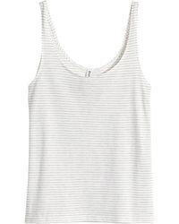 H&M Sleeveless Top - Lyst
