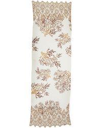 Valentino Coral-Print Lace-Trim Stole - Lyst