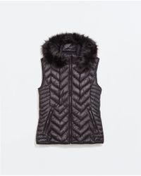 Zara Black Ultralight Gilet - Lyst