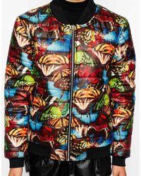 Jaded London - Butterfly-print Quilted Bomber Jacket - Lyst