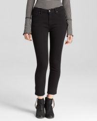 Free People Jeans High Rise Roller Crop in Black - Lyst